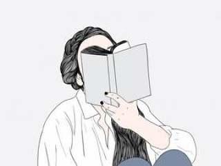 妇女在床上看书