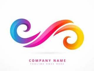 抽象的公司徽标模板设计插图