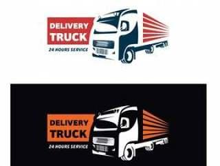 送货卡车快递标志设计模板