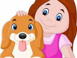 小女孩和小狗