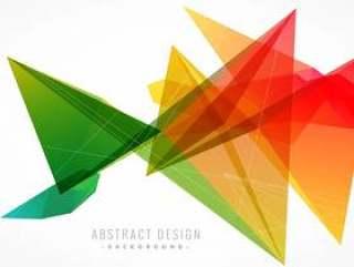 时尚抽象彩色背景与几何形状