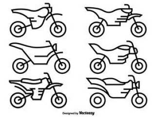 摩托车越野赛摩托车的矢量图标