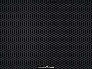 黑扬声器格栅的传染媒介无缝的样式