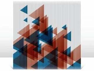 在帆布上的抽象三角形