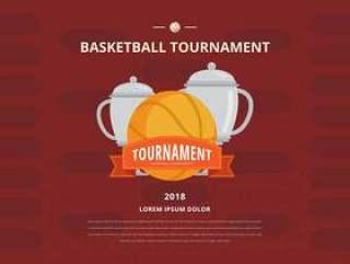 篮球锦标赛支架海报模板