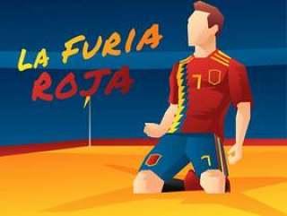西班牙足球运动员矢量