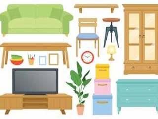 家具的插图集