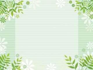 叶子和花的绿色背景