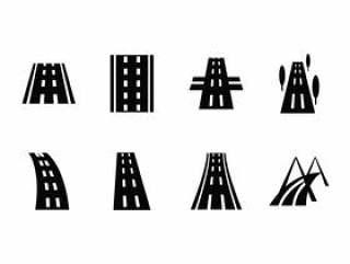 公路矢量图标