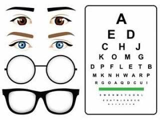 女性的眼睛测试