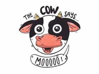 可爱的农场牛头与农场报价
