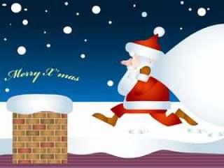 圣诞老人烟囱礼物