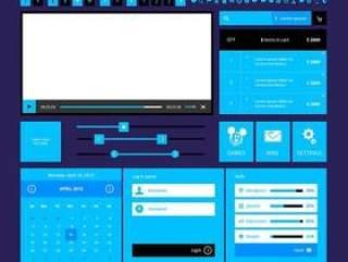 Metro UI设计PSD分层