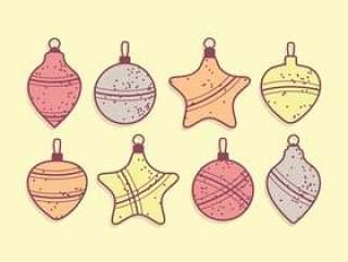 圣诞小玩意矢量