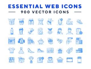 900矢量图标,基本Web图标
