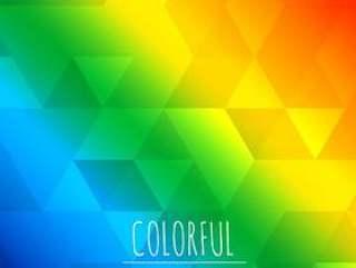 抽象的彩色背景与三角形图案设计
