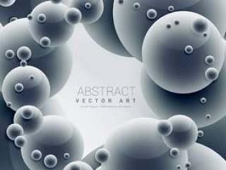 抽象的3d分子蓝色矢量背景