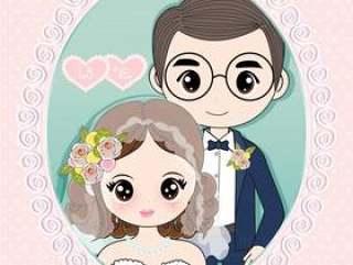 新郎新娘进入结婚仪式