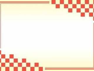 框架 - 日本模式 - 角对齐 - 红色