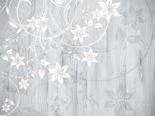 在木背景的花卉设计