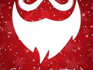 与圣诞老人胡子的圣诞节背景