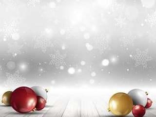 在木甲板上的圣诞小玩意
