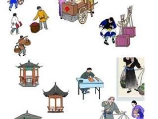 古代人物 凉亭 漫画PSD分层文件