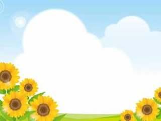 向日葵和天空