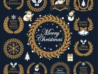 圣诞节/月桂冠/框架集