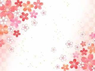 樱桃粉彩_粉红色_对角线背景1657