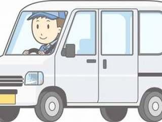 汽车01 - 轻型面包车 - 驾驶 - 全身
