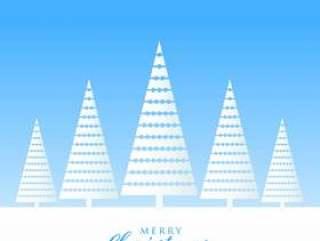 优雅的圣诞节问候设计冬季