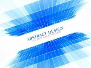 蓝色透视抽象背景在商务风格演示