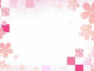 日本风格的图像7樱桃格仔的图案