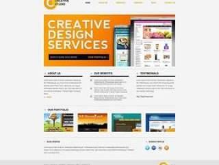 英文企业网页模板PSD分层(804)
