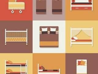 9款家具床图标