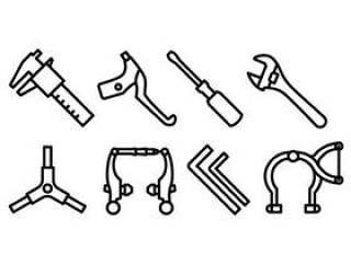 自行车齿轮图标包