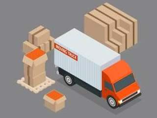 移动卡车等距矢量