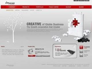 企业网页模板PSD分层(810)