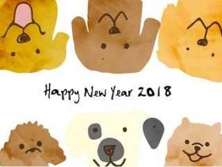 新年卡片模板2018_13