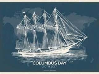 复古的哥伦布日图