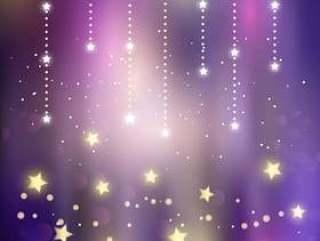 圣诞节魔术星星背景