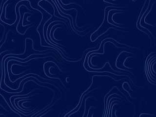 蓝色的地形图插画设计