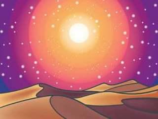 沙漠景观图