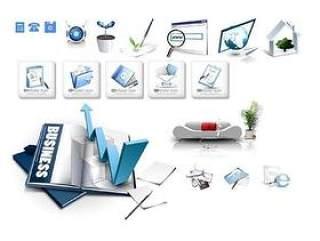 手机电脑图标PSD分层素材