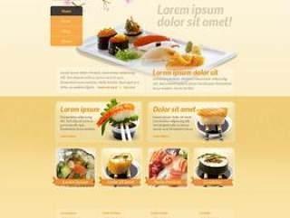 外国美食网站PSD分层素材