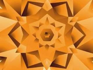 抽象的橙色黄色背景设计插图