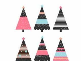 抽象的圣诞树矢量