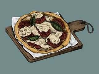 意大利薄饼的例证