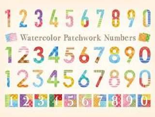 水彩触摸拼布图案编号